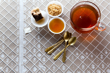 tea cup glass. tea party