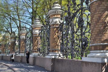 Mikhailovsky Garden lattice. St. Petersburg.