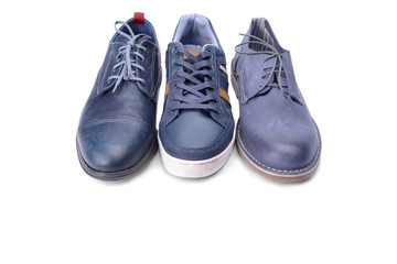Blue male shoes
