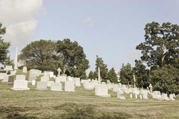 Graves at Arlington National Cemetery, Virginia