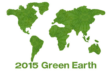 Idea from leaf.(Green earth concept)