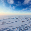 Short winter day in tundra