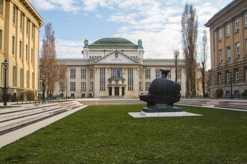 Croatian National State Archives building in Zagreb