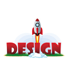 Design vector illustration, rocket design