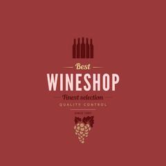 Logo Wine shop Retro Vintage Label design vector Hipster