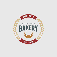 Logo Bakery Retro Vintage Label design vector Hipster