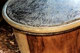 handmade garifuna drum detail