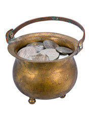 Pot with coins