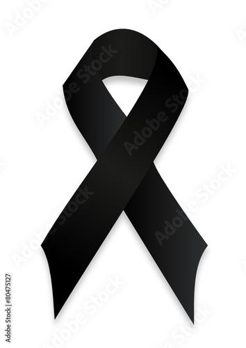 Zdjęcia na płótnie, fototapety, obrazy : black mourning ribbon
