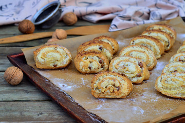 Homemade cookies with nuts