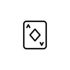 Diamond A - Trendy Thin Line Icon