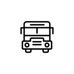 School Bus - Trendy Thin Line Icon
