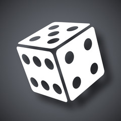 Vector dice icon