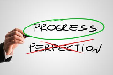 Progress - Perfection - concept