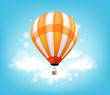 Realistic Colorful Hot Air Balloon Background Flying - 80476798