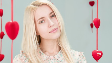 elegant lady with blond hair
