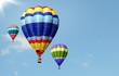 Mongolfiere nel cielo azzurro - 80477381