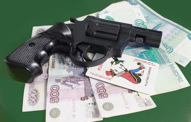 Карты, деньги, пистолет