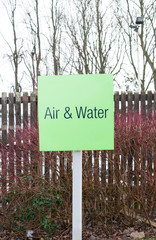 Sign for Air and water refilling at service station