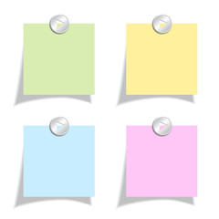 Square post-it note papers