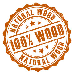 100 natural wood stamp