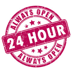 24 hour open stamp
