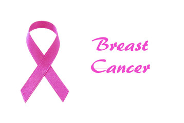 İsolated Pink Ribbon For Breast Cancer Awareness