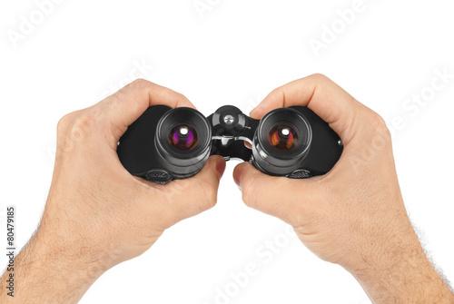 Hands with binoculars
