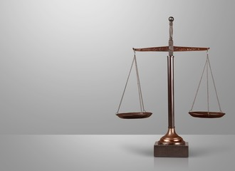 Scales of Justice. Golden Scales