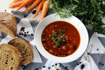 Bean soup / Rustic home cooking