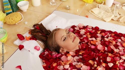 Woman at luxury spa. © Gennadiy Poznyakov