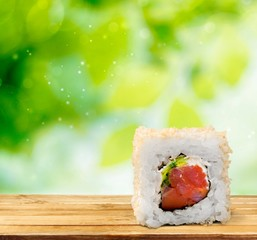 Sushi. Sushi pieces collection, isolated on white background