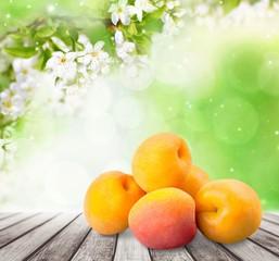 Apricot. Ripe apricot in closeup