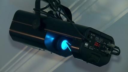 DJ lighting ( light scanner) at the disco.