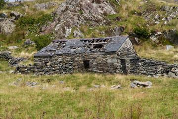 Ruin of stone cottage, United Kingdom