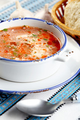 Ukrainian beetroot soup - borscht,