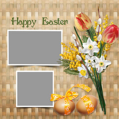 Easter greeting card with frames