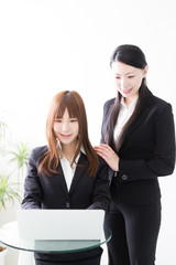 portrait of asian businesswomen working
