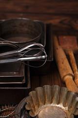 Vintage  Baking Tins and tools