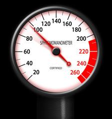 Tachometer-style sphygmomanometer