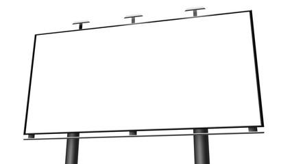 Blank billboard isolated on white background