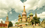 Fototapeta St. Basil`s Cathedral with Kremlin, Moscow