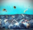 Leinwanddruck Bild - Seabed pollution