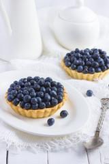 tart with fresh bluebeeries