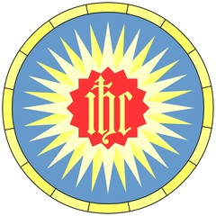 IHC monogram of the Holy Name (Christian Symbol), emblem