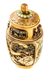 Decorated urn