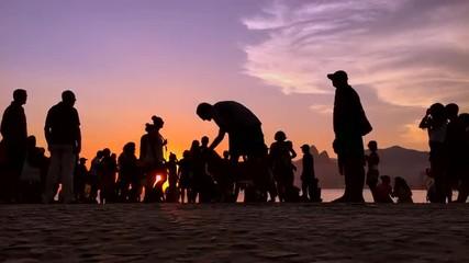 Rio de Janeiro Brazil Sunset Time Lapse