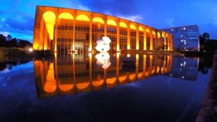View of Itamaraty Palace in Brasilia city capital, Brazil