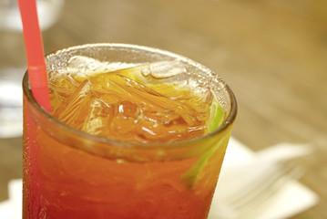 Freshness of iced lemon tea