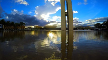 Sunset of the National Congress of Brazil in Brasilia